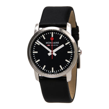 Mondaine A672.30351.14SBB Women's Simply Elegant Swiss Black Leather