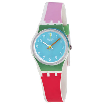 Swatch LW146 Women's De Travers Blue Dial Silicone Strap Watch