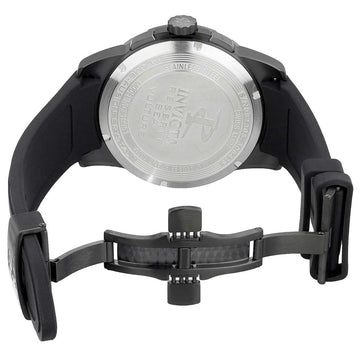 Invicta 18951 Men's Reserve Black Skeleton Dial Black Silicone Strap Chronograph Watch