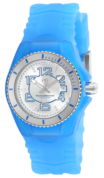 Technomarine Women's Silicone Strap Watch - Cruise JellyFish Silver Dial | TM-115125