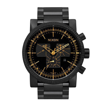 Nixon Men's Chronograph Watch - Magnacon SS II Black Dial Black IP Steel | A1541041