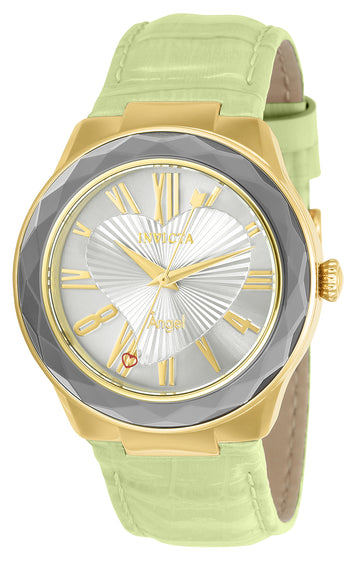 Invicta 22535 Women's Angel Silver Dial Light Green Strap Watch