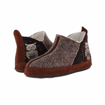 Acorn Women's Slipper - Forest Bootie Chocolate Owl | A10079