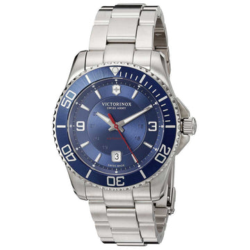 Swiss Army 241706 Men's Maverick Automatic Blue Dial Stainless Steel Bracelet Watch