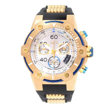 Invicta Men's Chronograph Watch - Bolt Swiss Quartz Gold Tone Dial | 25872