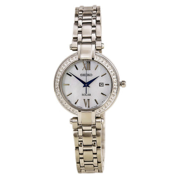 Seiko SUT181 Women's Tressia Conceptual Solar MOP Dial Stainless Steel Diamond Watch