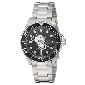 Invicta 24790 Women's Snoopy Character Automatic Black Dial Steel Bracelet Dive Watch