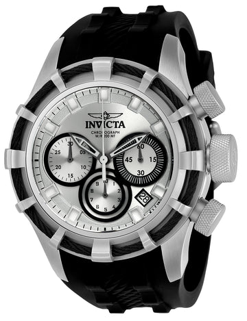 Invicta Men's Chronograph Watch - Bolt Sport Rubber Strap Silver & Black Dial | 22147
