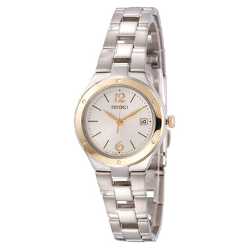 Seiko SXDC48 Women's Classic Silver Dial Stainless Steel Bracelet Watch
