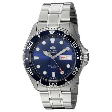 Orient Men's Automatic Watch - Ray II Blue Dial Steel Bracelet Dive | AA02005D