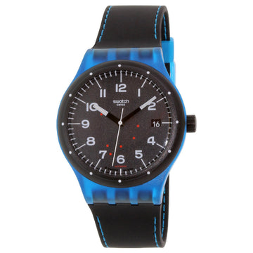 Swatch SUTS402 Unisex Sistem51 Class Black Silicone Strap Black Dial Swiss Automatic Watch