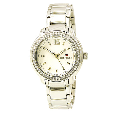 Tommy Hilfiger 1781469 Women's Callie Crystal White Dial Stainless Steel Bracelet Watch