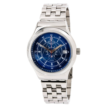 Swatch YIS401G Mens Sistem51 Irony Automatic Blue Dial Watch