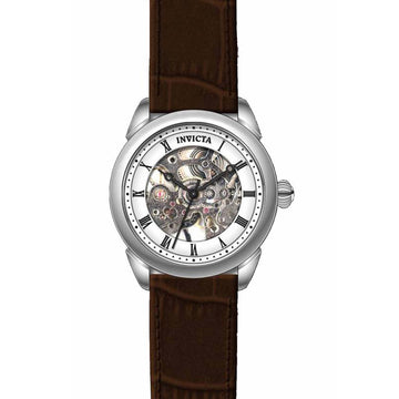 Invicta Women's Skeleton Dial Mechanical Watch - Specialty Leather Strap | 17196