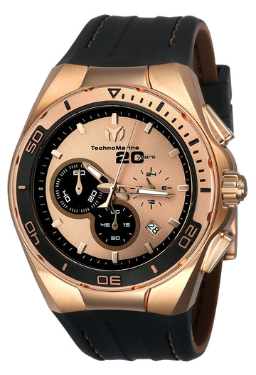 Technomarine Men's Chronograph Watch Set - Cruise Rose Gold & Black Dial | TM-116001