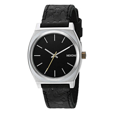 Nixon Men's Strap Watch - Time Teller Black Dial Quartz Black Leather | A0452222