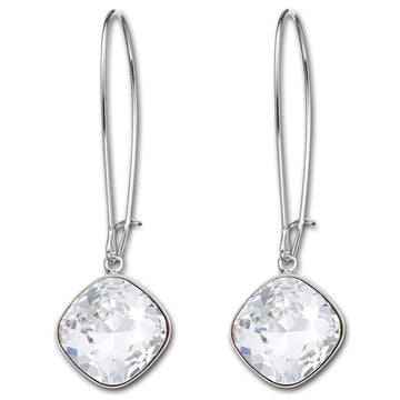 Swarovski 1181643 Women's Thankful Rhodium-Plated Clear Crystal Pierced Earrings