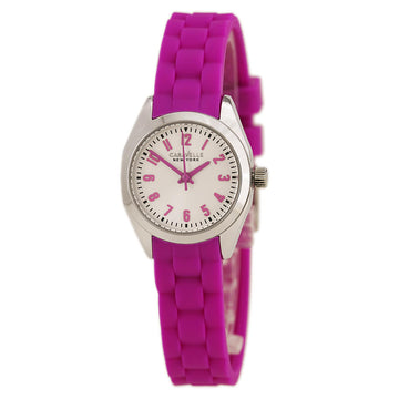 Caravelle 43L175 Women's Pink Silicone Strap Silver Meliss Watch