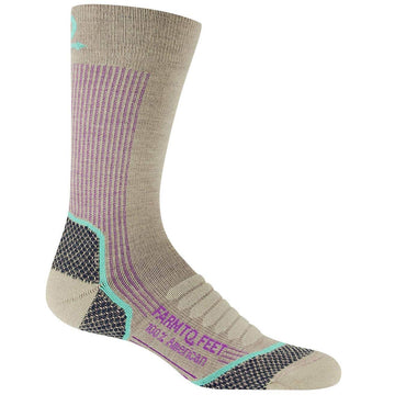 Farm To Feet Women's Socks - Damascus Tan Lightweight Hiking | 8986-250-TAN