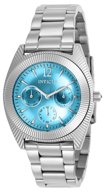 Invicta 23748 Women's Angel Blue Dial Stainless Steel Bracelet Crystal Watch