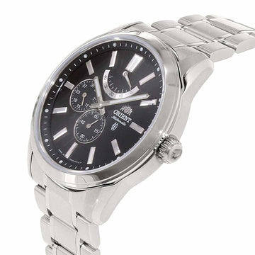 Orient Men's Automatic Stainless Steel Watch - Sporty Black Dial Bracelet | EZ08001B