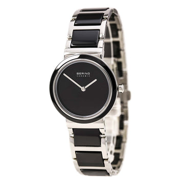 Bering 10729-742 Women's Ceramic Black Dial Steel & Ceramic Bracelet Watch