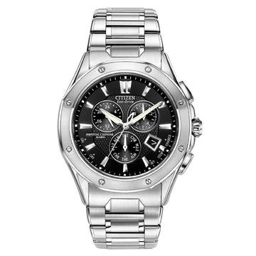 Citizen Men's Chronograph Watch - Signature Octavia Perpetual Eco-Drive Black Dial