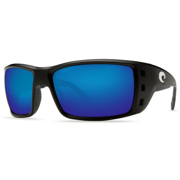 Costa Del Mar PT11GFBMGLP Men's Permit X-Large 580G Polarized Glass Blue Mirror Lens Matte Black Frame Sunglasses