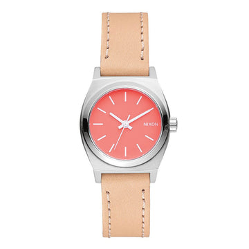 Nixon Women's Strap Watch - Small Time Teller Beige Leather | A5092055