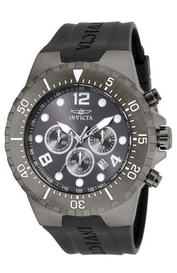 Invicta Men's Chronograph Watch - Specialty Gunmetal Dial Polyurethane Strap | 16750