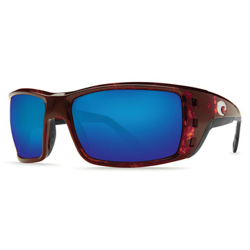 Costa Del Mar PT10OBMGLP Men's Permit X-Large 580G Polarized Glass Blue Mirror Lens Tortoise Frame Sunglasses