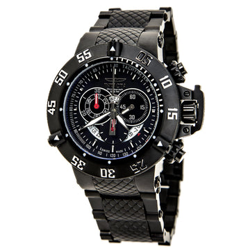 Invicta Men's Chronograph Black Steel Watch - Subaqua Swiss Quartz Black Dial | 4695