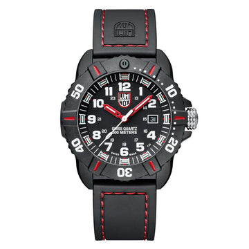 Luminox Men's Watch Strap - Coronado Tactical Black Dial Red Accents | 3035