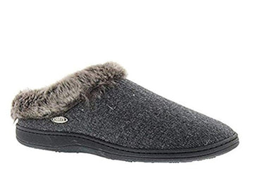 Acorn Women's Slipper - Chinchilla Ragg Clog Charcoal Heather | A17101