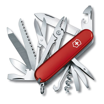 Swiss Army 53722 Victorinox Do-It-Yourself Handyman Red Handle Multi-Tool Pocket Knife