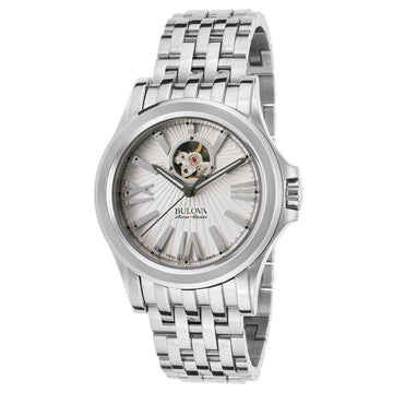 Bulova Accu-Swiss Men's Automatic Stainless Steel Watch - Kirkwood Semi-Skeleton Dial