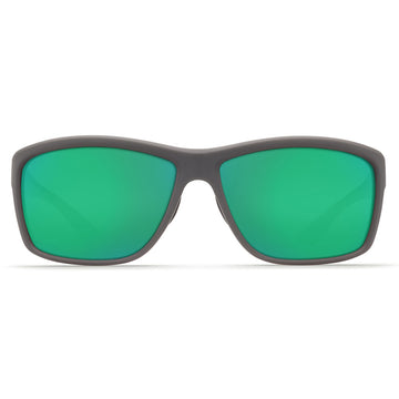Costa Del Mar AA98OGMP Men's Mag Bay Polarized Plastic 580P Green Mirror Lens Matte Grey Frame Sunglasses