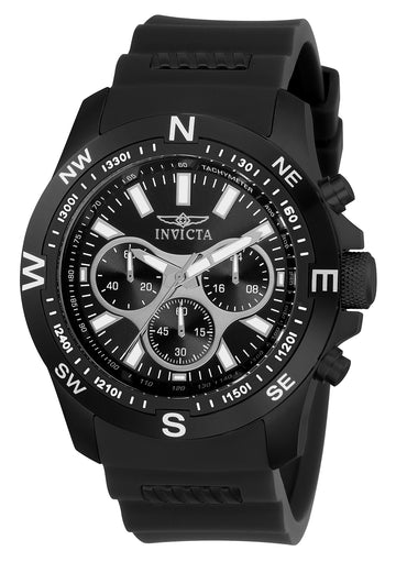 Invicta 22683 Men's I-Force Chronograph Black Dial Black IP Steel & Polyurethane Strap Watch