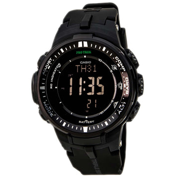Casio Men's Digital Compass Watch - Protrek Triple Sensor Resin Strap | PRW3000-1A