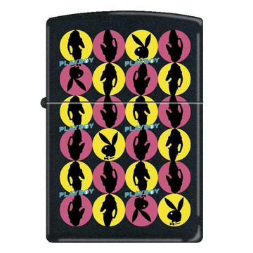 Zippo 0091 Playboy Bunny Classic Black Matte Powdercoat Windproof Pocket Lighter