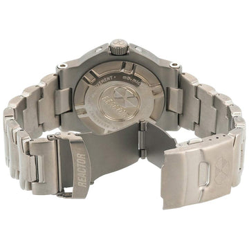 Reactor 58401 Men's Trident DNA Never Dark Black Dial Titanium Bracelet Dive Watch