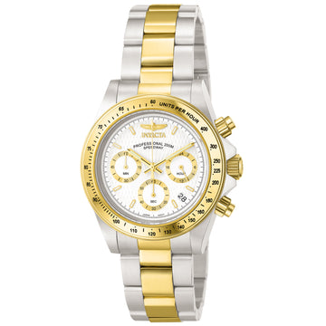 Invicta Men's Chronograph Watch - Speedway Quartz Two Tone Yellow Gold Steel | 9212