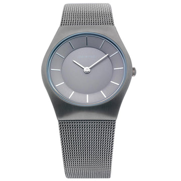 Bering 11930-077 Women's Classic Slim Grey Dial Steel Mesh Bracelet Watch
