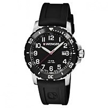 Wenger 01.1341.103 Men's Off Road Black Bezel Black Dial Silicone Strap Watch