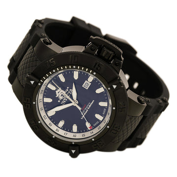 Invicta Men's Subaqua Noma III GMT Watch - Black Dial Steel & Polyurethane | 0736