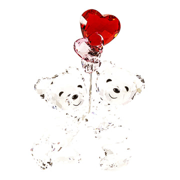 Swarovski 5185778 Clear Crystal Pink & Red Heart Balloons Kris Bears