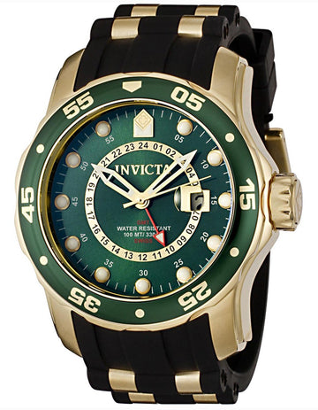 Invicta 6994 Gold Plated Scuba Dive GMT Watch