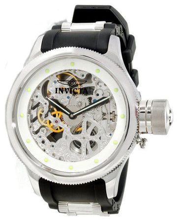 Invicta Men's Russian Diver Skeleton Dial Mechanical Watch - Polyurethane & Steel