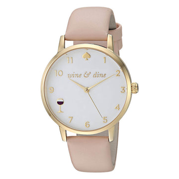 Kate Spade KSW1245 Metro Women's Pink Strap White Dial Watch