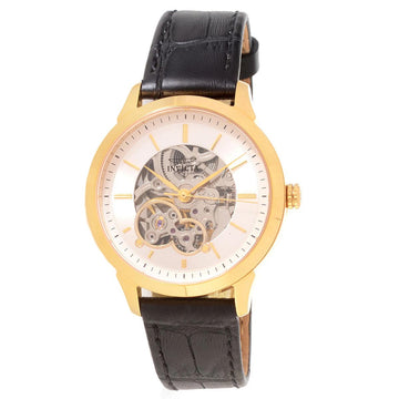 Invicta 18120 Women's Specialty Silver Skeleton Dial Leather Strap Mechanical Watch